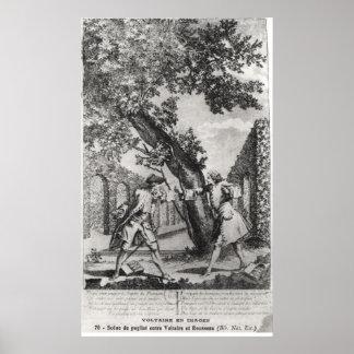 Discusión entre Jean-Jacques Rousseau Poster