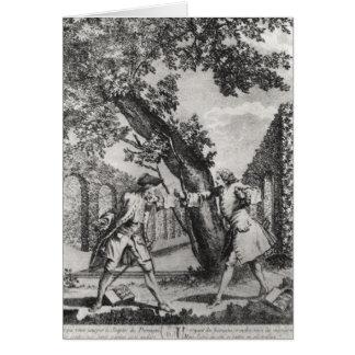 Discusión entre Jean-Jacques Rousseau Tarjeta De Felicitación