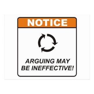 Discusión/ineficaz Postales