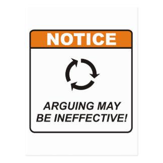 Discusión/ineficaz Tarjeta Postal