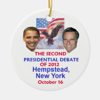 Discusión presidencial ornaments para arbol de navidad