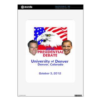 Discusión presidencial iPad skin