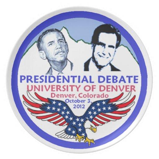 Discusión presidencial platos para fiestas