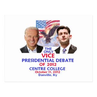 Discusión presidencial tarjeta postal
