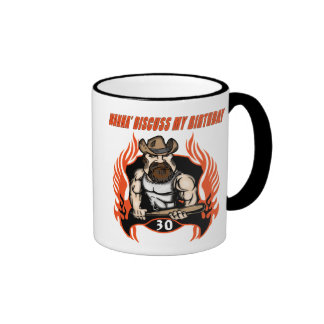 Discuss My 30th Birthday Gifts Ringer Mug