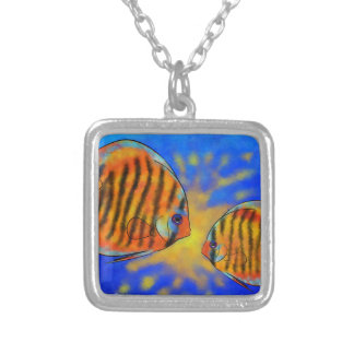 Discussios V1 - amazing discus Silver Plated Necklace