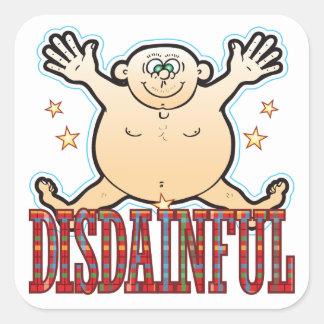 Disdainful Fat Man Square Sticker