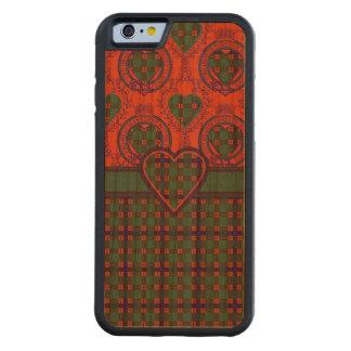 Dise clan Plaid Scottish kilt tartan Carved Cherry iPhone 6 Bumper Case