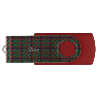 Dise clan Plaid Scottish kilt tartan USB Flash Drive