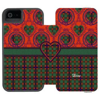 Dise clan Plaid Scottish kilt tartan Wallet Case For iPhone SE/5/5s