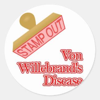 Disease de Von Willebrand Pegatina Redonda
