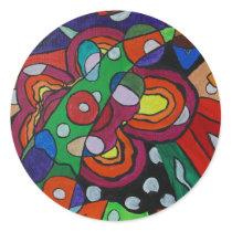 Diseased Classic Round Sticker