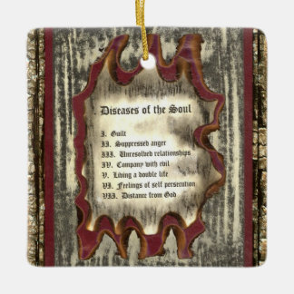 Diseases of The Soul Ceramic Ornament