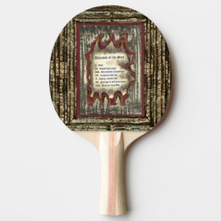 Diseases of The Soul Ping Pong Paddle