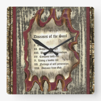 Diseases of The Soul Square Wall Clock