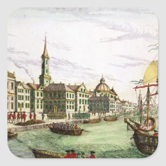 Disembarking of the English Troops Square Sticker