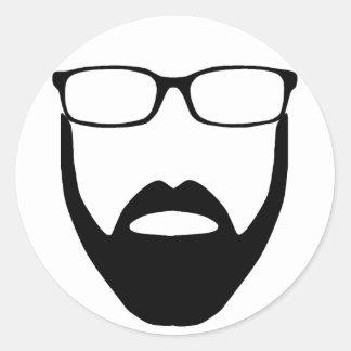 Disembodied Beard Small Sticker