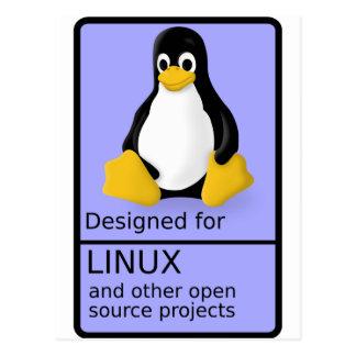Diseñado para Linux Postales