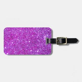Diseñador atractivo brillante púrpura rosado del b etiquetas maleta