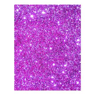 Diseñador atractivo brillante púrpura rosado del b flyer a todo color