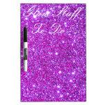 Diseñador atractivo brillante púrpura rosado del b pizarras blancas