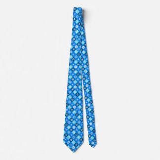 Diseñador azul de la colección de los copos de corbata personalizada