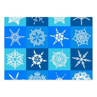 Diseñador azul de la colección de los copos de tarjetas de visita