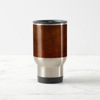 Diseñador con clase del cuero auténtico taza
