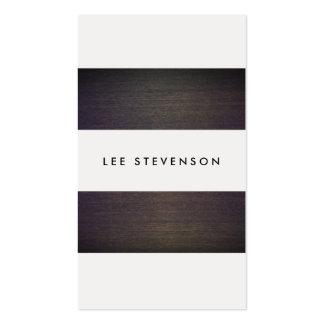 Diseñador creativo de madera de las rayas modernas tarjetas de visita