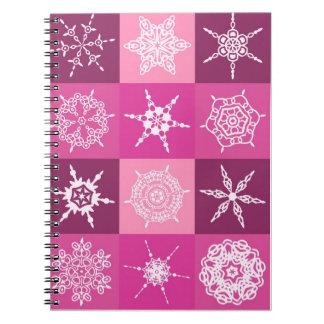 Diseñador de la colección del copo de nieve del Su Libros De Apuntes Con Espiral