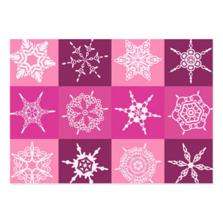 Diseñador de la colección del copo de nieve del tarjetas de visita