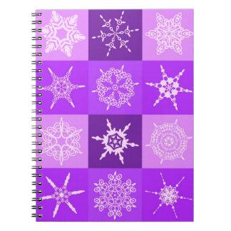Diseñador de la colección del copo de nieve del Wi Cuaderno