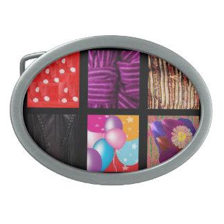 Diseñador de la tela de la moda hebillas cinturon ovales