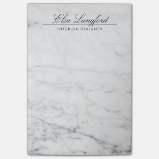 Diseñador de lujo de mármol blanco moderno notas post-it®