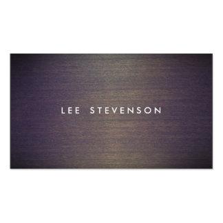 Diseñador de madera simple del profesional de tarjetas de visita