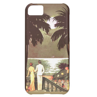 Diseñador de Miami Beach del vintage del art déco Funda Para iPhone 5C