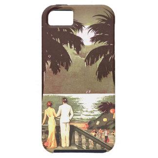 Diseñador de Miami Beach del vintage del art déco iPhone 5 Funda