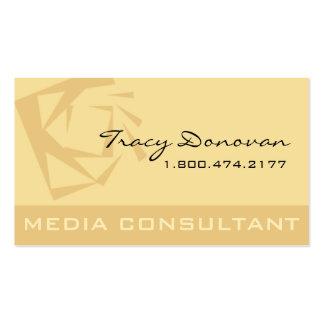 Diseñador de moda beige del consultor de medios tarjetas de visita