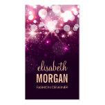 Diseñador de moda - chispas rosadas del brillo plantilla de tarjeta personal