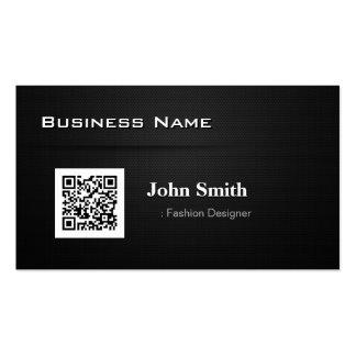 Diseñador de moda - con código del negocio QR Tarjetas De Visita