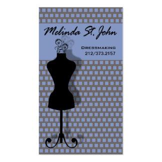 Diseñador de moda de costura del maniquí de la tarjetas de visita