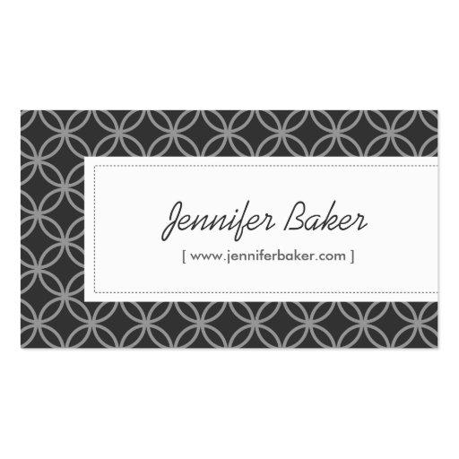 Diseñador de moda, decorador de interiores, tarjetas de visita