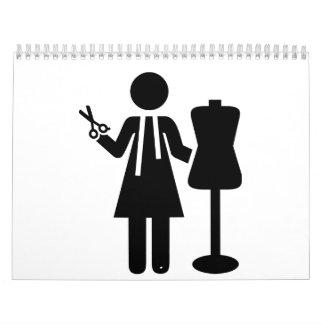 Diseñador de moda del sastre calendarios