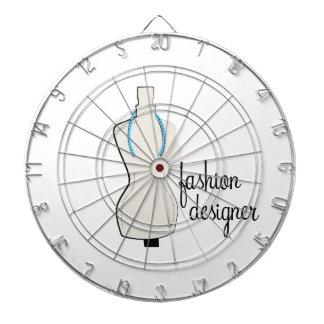 Diseñador de moda tablero de dardos