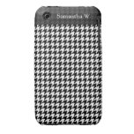 Diseñador de moda elegante negro/blanco de Houndst iPhone 3 Carcasas