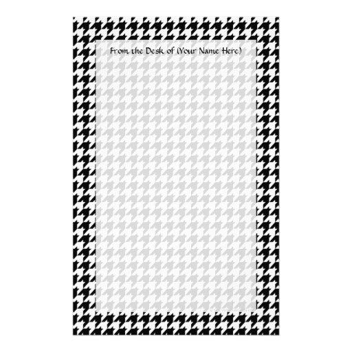 Diseñador de moda elegante negro/blanco de papeleria personalizada