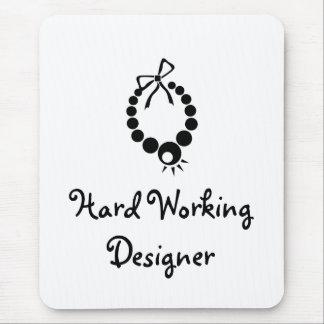 Diseñador de trabajo duro alfombrilla de ratón