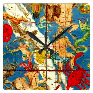 Diseñador del arte del vintage del mapa de estrell relojes de pared