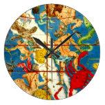 Diseñador del arte del vintage del mapa de estrell reloj de pared