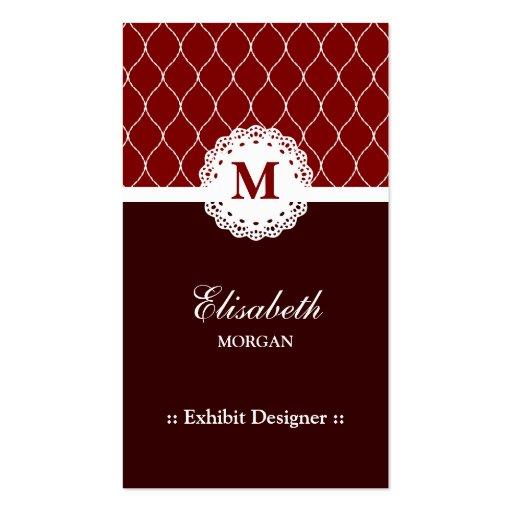 Diseñador del objeto expuesto - modelo elegante de tarjetas personales